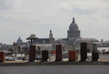 Le Panthéon, l'église Saint-Etienne-du-Mont et la coupole de la Sorbonne