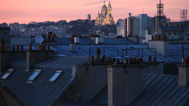 La Butte Montmartre. The Montmartre hill.