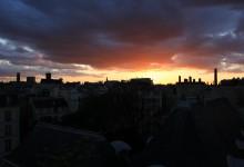 Comme un paysage de mer. De Notre-Dame de Paris à Beaubourg. Like a seascape. From Notre-Dame de Paris to Beaubourg.